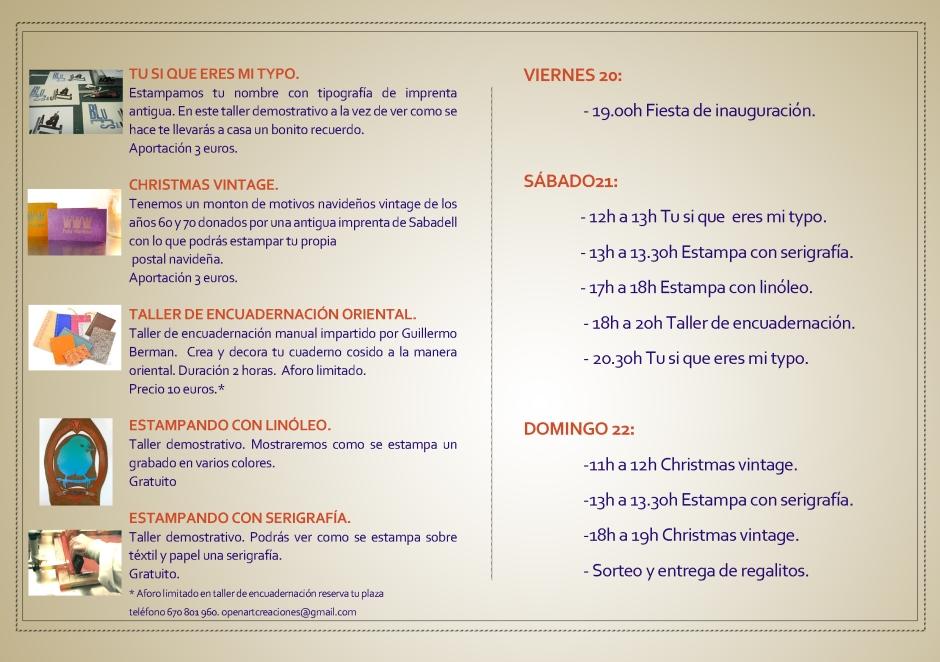 PROGRAMA DE ACTIVIDADES OPEN DAY